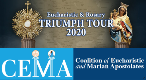 The Coalition of Eucharistic and Marian Apostolates Triumph Tour 2020 Advertisement