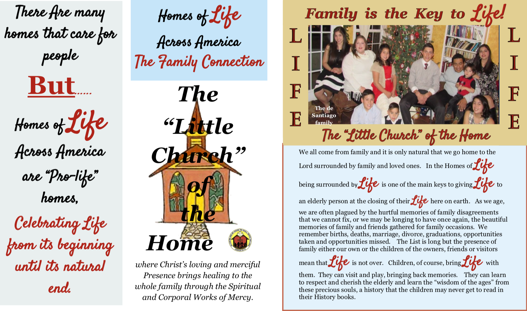 Family key to life Brochure